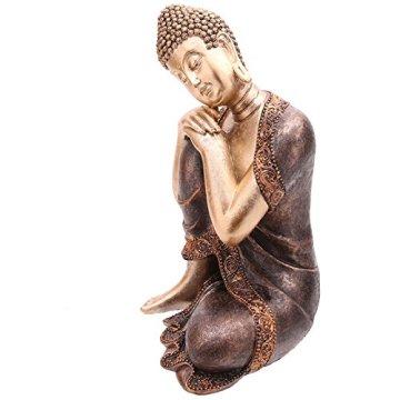 Decorativa figura de buda cabeza descansando sobre la rodilla-altura 29cm ancho 20,5cm Profundidad 18cm 4