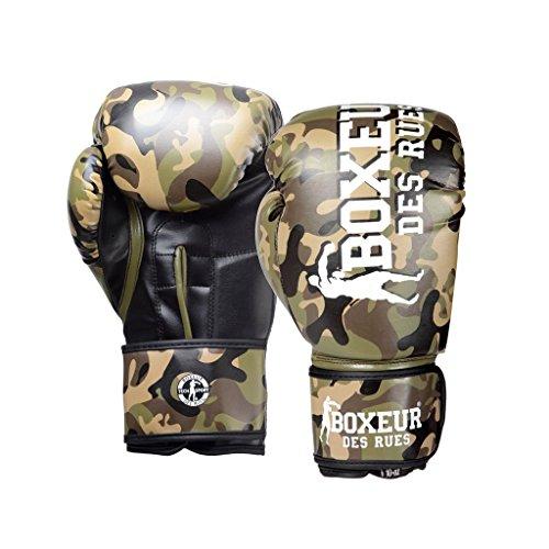 BOXEUR DES RUES Serie Fight Activewear, Guantoni da Boxe Uomo, Camouflage, 12OZ