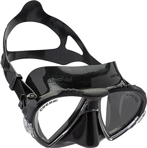 Cressi Matrix Soft Silicone High Quality Maschera per Immersioni, Apnea e Snorkeling, Unisex - Adulto, Nero