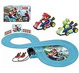 Carrera First Nintendo Mario Kart 20063014 Rennbahn für Kinder ab 3 Jahren Mario Vs. Yoshi