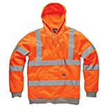 Dickies Hi Viz Hoodie Hooded Sweatshirt Orange GO/RT 3279 Railspec M-XXXL EN471 (Large)