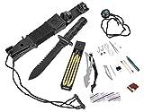 Blacksnake Survival Knife Gürtelmesser mit Überlebensausrüstung