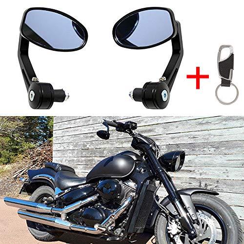 Ein Paar Motorrad Spiegel Lenkerendenspiegel Lenkerspiegel Rückspiegel 7/8 22mm 1