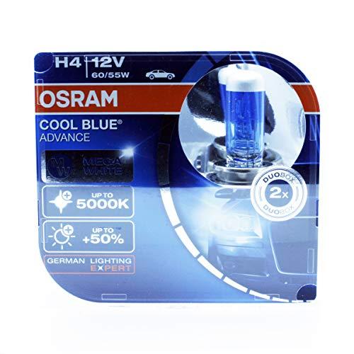 Osram H4900312V 60/W 5000K 62193CBA Cool blu Advance Hi/lo faro alogeno faro 2x