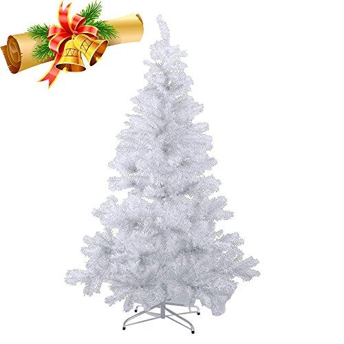 MCTECH 210cm PVC Festive Artificial Christmas Tree Albero di Natale Bianco Decorazione Albero con Supporto (210cm)