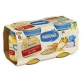 Nestlé Selección Tarrito de puré de verduras y carne, variedad puré de Verduritas con Pollo, para bebés a partir de 6 meses -  Tarritos 2 x 200 gr