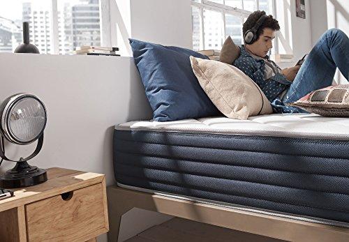 NATURALEX Matelas Aura - Mousse à Mémoire de Forme Thermosoft Viscotex® + Mousse Blue Latex® - 7 Zones de Confort - Double Face Été/Hiver - ... 22