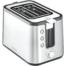 Krups Control Line KH442D10 Premium Toaster mit 6 Bräunungsstufen (720 W) edelstahl/schwarz