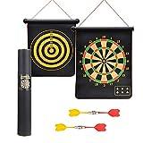 Shi Ran Magnetische Dartscheibe, 49 * 41 cm, mit 4 Magnetpfeilen, Magnetpfeilen im Inneren des Shooter-Sportspiels, doppelseitiges Magnetziel