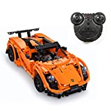 The perseids Automobile Sportiva telecomandata, blocchetti di Costruzione Telecomando assemblea di DIY Simulazione Fresco Super Sports Car Bambini Toy Racing Model(Arancia)