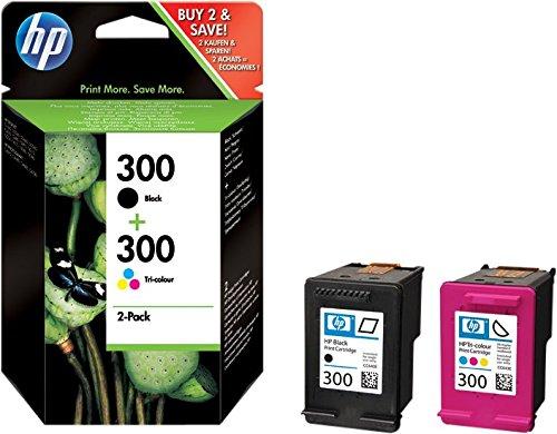 HP 300 Combo Pack CN637EE Confezione da 2 Cartucce: 1 Nero e 1 Colore Compatibile con Stampanti a...