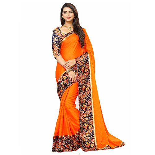 Fashion Women's Georgette Saree With Blouse Piece