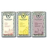 Huiles d'olive aromatiques 250 ML*3 (échalote, citron, ail) | Huile Vierge Extra | Première pression à froid | 100% naturelles | idéales pour vos salades, marinades, viande blanches et poissons