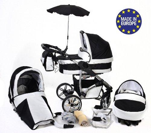 Twing - 3-in-1 Travel System con carrozzina, seggiolino auto, passeggino sportivo e accessori CON RUOTE GIREVOLI