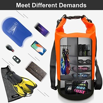 Dry-Bag-ARTEESOL-Waterproof-Storage-Sack-5L10L20L30L-Adjustable-Double-Strap-Prefect-for-Floating-Kayaking-Boating-Rafting-Swimming-Diving-Snowboarding-Canoe-Surfing-Skiing-4-Colours