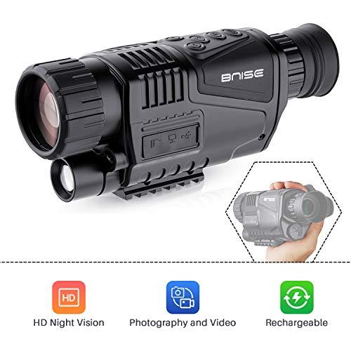 BNISE Visore Notturno Monoculare Digitale 5X40 con 8GB TF Carta HD Fotocamera Uso Diurno e Notturno...