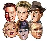 "Star Cutouts Ltd-SMP 170,18 cm (67"")-Hollywood-Maschera in cartone, confezione da 6 pezzi"