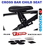 Oxford Little Explorer Cross Bar Fit Child Bike Seat & Glueless Patch Kit Package