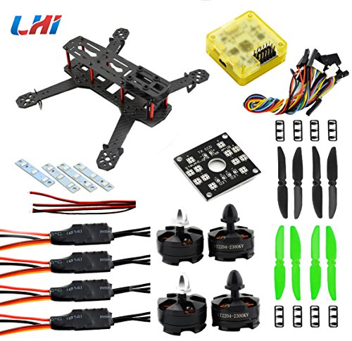 LHI QAV 250mm Quadcopter Frame Racing+ CC3D Flight Controller + MT2204 2300KV Motor + Simonk 12A ESC...