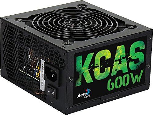 Aerocool KCAS600S - Fuente de alimentación gaming para PC (600 W, 12V, PFC...
