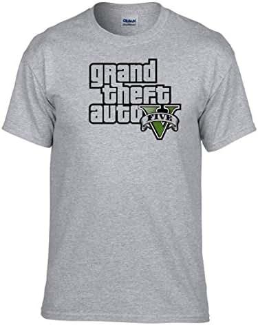 GTA V GTA 5 Grand Theft Auto 5 Rockstar Jogos Games Logo T-Shirt -310 -Grau