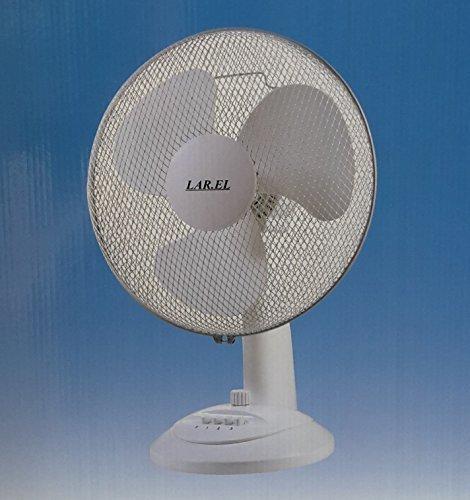 Ventilatore da tavolo LAREL LAD40 con TIMER oscillante 40 cm BIANCO