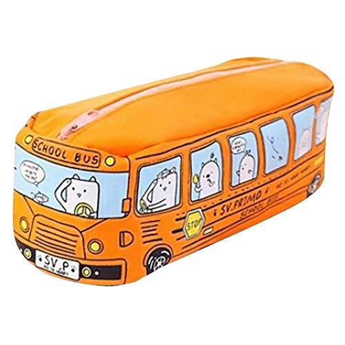 FiedFikt - Astuccio portapenne Creativo a Forma di Bus, portapenne da scrivania, con Cerniera, per...