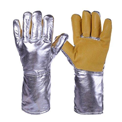 Guanti ignifughi Guanti resistenti alle alte temperature a foglio di alluminio Resistenti alle...