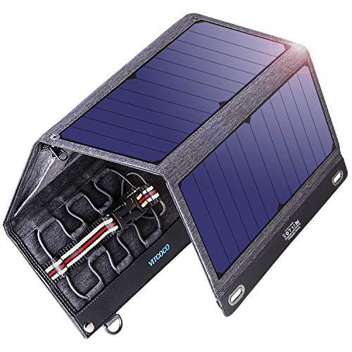 VITCOCO Caricabatterie Solare Portatile, 29W Pannelli Solari Dual-Port USB Impermeabile Portatile...