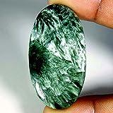 54.20CTS. Verde naturale designer Seraphinite ovale cabochon sciolto pietre preziose
