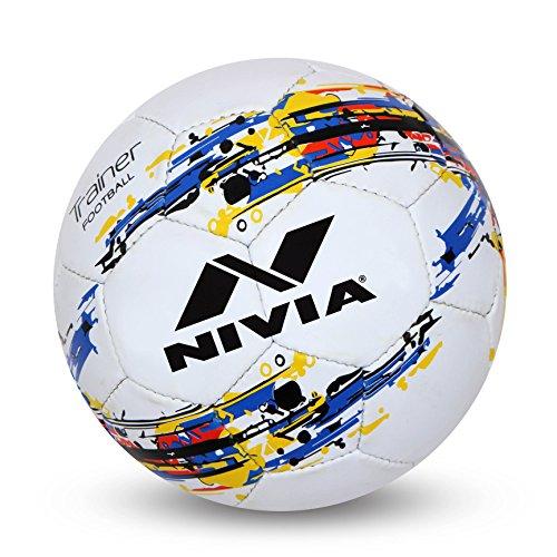 Nivia Trainer Football, Size 5 (White)