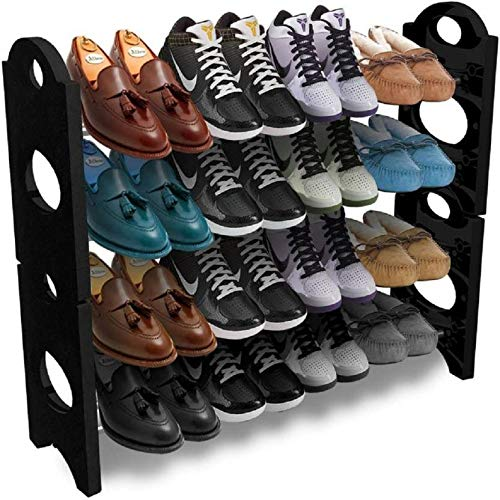 Pureus Foldable Shoe Rack with 4 Shelves (Plastic Rod) 2