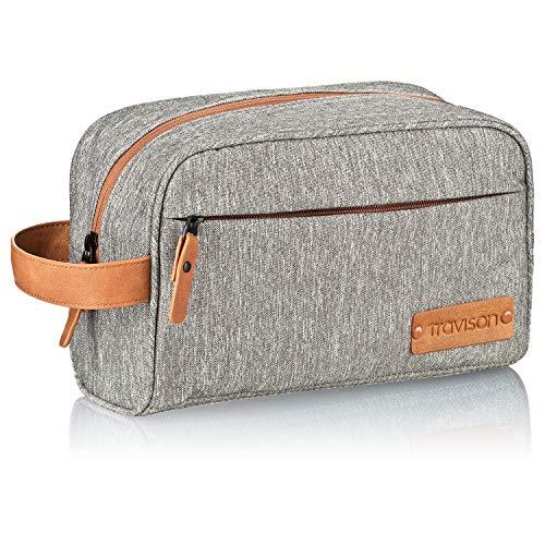 TRAVISON Premium Kulturtasche XL Herren und Damen, Sehr geräumig, Kulturbeutel mit Mehreren Innentaschen, Robust, Wasserabweisend