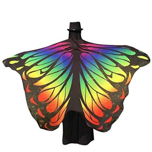 Disfraz para Mujer/Niños, Xinantime Tela Suave Mariposa mantón alas de Hadas NINFA Mujer Accesorio de Disfraces Pixie (Multicolor 3)