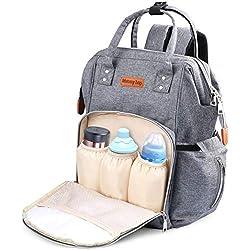 Mochila de Pañales Multifuncional, Weeygo Impermeable Oxford Bolso Pañal De Gran Capacidad Bolso de Viaje Para Bebés y Mamá con 2 Correas de Cochecito