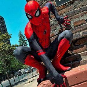 SPIDERMANHTT Spiderman Adulto Niño Disfraz Expedición Cosplay Mono Body Halloween Impresión 3D Spandex Lycra (Color : Adult, Size : XL)