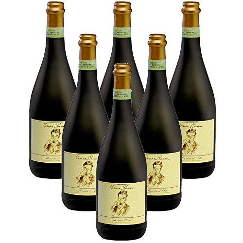 Cartone da 6 Bottiglie Moscato d'Asti Docg Cesare Pavese Vino Bottiglia Dolce