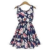 CALISTOUS Big Snow Spins Quality Elegant Flowers Women Big Flower Printed Chiffon Blouses Dress Navy Blue & XL