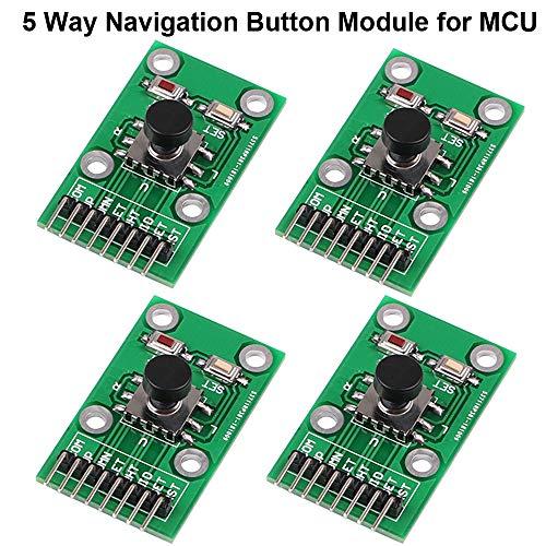 4pcs Modulo di navigazione Modulo UNO Joystick Module per MCU AVR Gioco Five Direction 5D Rocker Joystick Independent KeyboardDescrizione:Tipo: regolatore di tensioneApplicazione: computerDimensioni: 25 mm x 41 mmIl numero di IO: 7Tensione di...