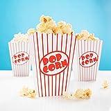 PartyMarty 24x Snackbox Popcorn Tüte Happy Dots - wunderschöne Boxen mit Punkten für Snacks, Süßigkeiten & Geschenke GmbH® (Retro Popcorn)