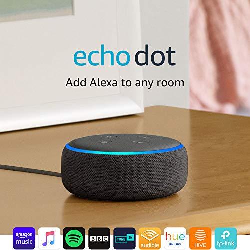 Echo Dot (3rd Gen) - Smart speaker with Alexa - Charcoal Fabric 3  Echo Dot (3rd Gen) – Smart speaker with Alexa – Charcoal Fabric 51AN 2BiFhY8L