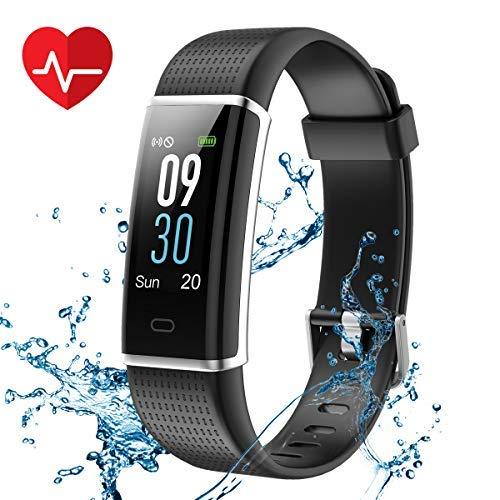 CHEREEKI Fitness Tracker, IP68 Impermeabile Orologio Smartwatch con Cardiofrequenzimetro da Polso...