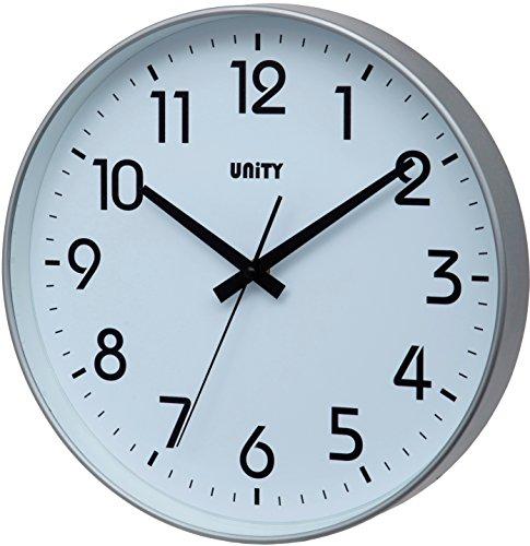 Unity Fradley 30cm 30,5cm Moderno Orologio da Parete Silenzioso, plastica, Silver, 30 x 30 x 5...