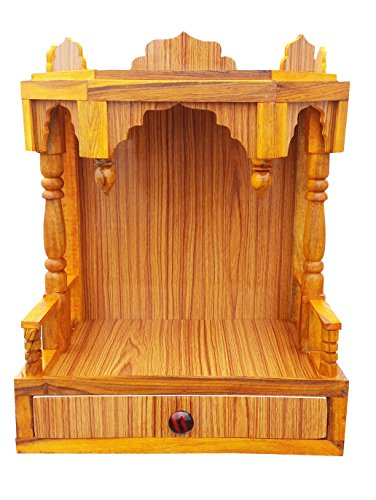 Make Wooden VN Beautiful Plywood Mandir is Perfect For Pooja Room, looks very beautiful in Your House For Your Favorite God Idol, Home & Office Decoration (Color : Brown ; Height - 52CM, Length - 41CM, Width - 23CM) NOW ON SALE!!