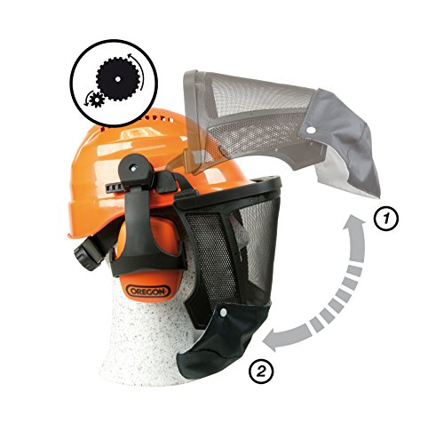 This provides complete head protection including the neck area. You will likewise appreciate supplied earmuffs with a decent NRR of 27dB.