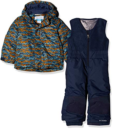 Columbia Buga Set, Tuta da Sci Unisex-Bimbi 0-24, Multicolore (Canyon Gold Trees), 4T