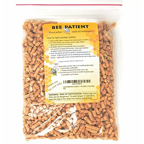 Wood Pellets Bee Smoker Fuel With Bonus Beekeeping Smoker Fire Starters 2 Pound Bag