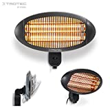 TROTEC Stufetta a raggi infrarossi IR 2000 S Stufa (2.000 Watt) faretto riscaldante al quarzo, ideale per terrazze