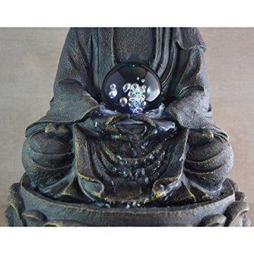 Zen Luz SCFR 8G Buddha Fuente Meditación Gran Interior Marrón Oscuro/Chocolate 21 x 21 x 30 cm 5