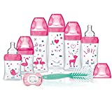 DODIE Kit Biberons anti-coliques Sensation+ ROSE + 1 goupillon + 1 sucette anatomique pour nouveau-né